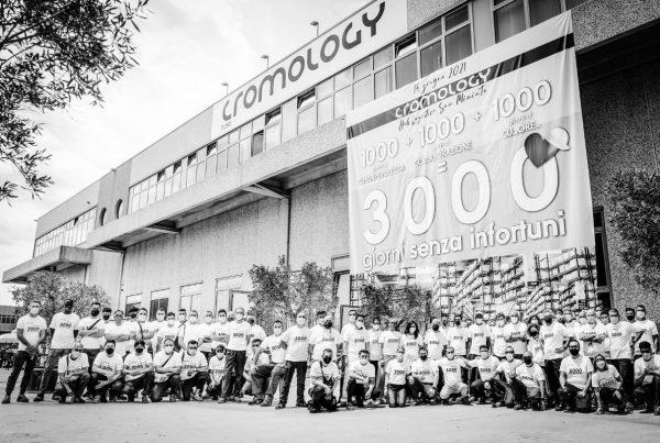 cromology festeggia 3000 giorni senza infortuni nel hub di san miniato