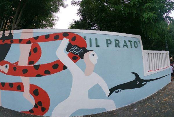 murale delle Olimpiadi di Mare associazione Il Prato